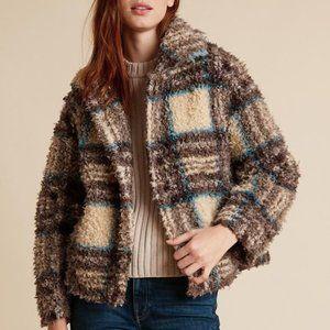 Velvet Erica Plaid Faux Sherpa Fuzzy Jacket
